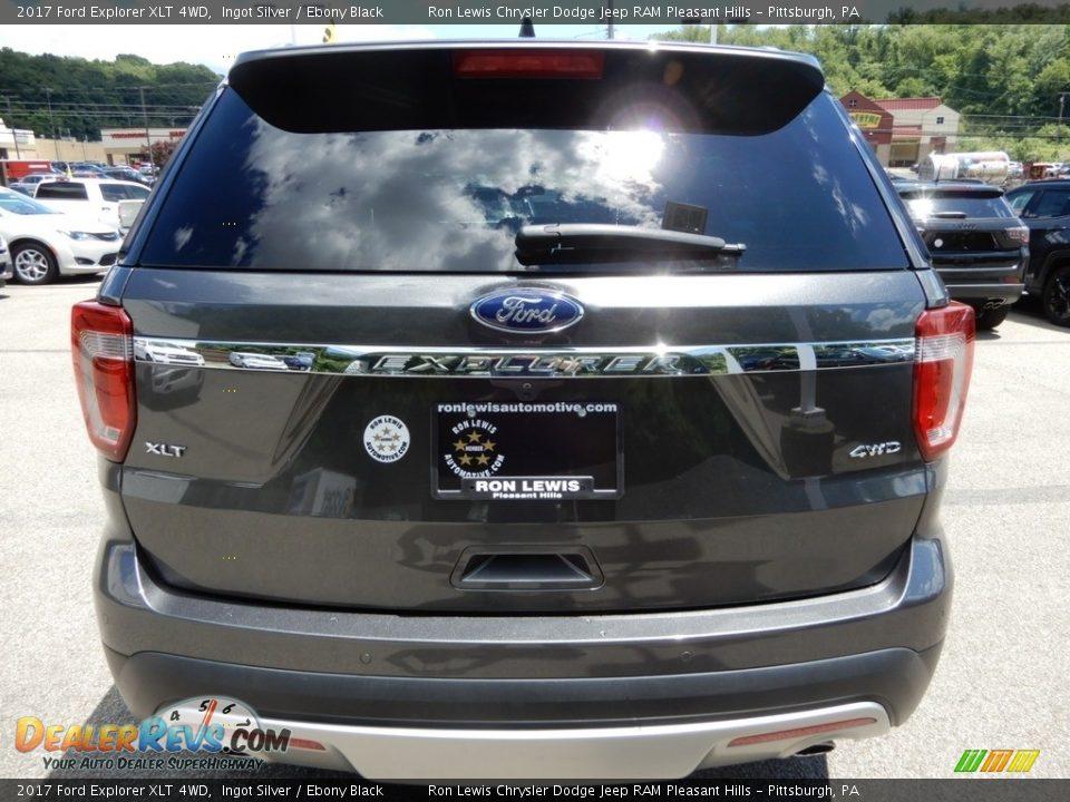 2017 Ford Explorer XLT 4WD Ingot Silver / Ebony Black Photo #4