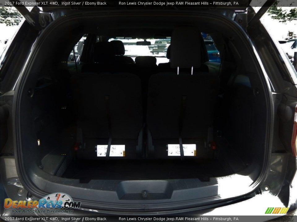 2017 Ford Explorer XLT 4WD Ingot Silver / Ebony Black Photo #5