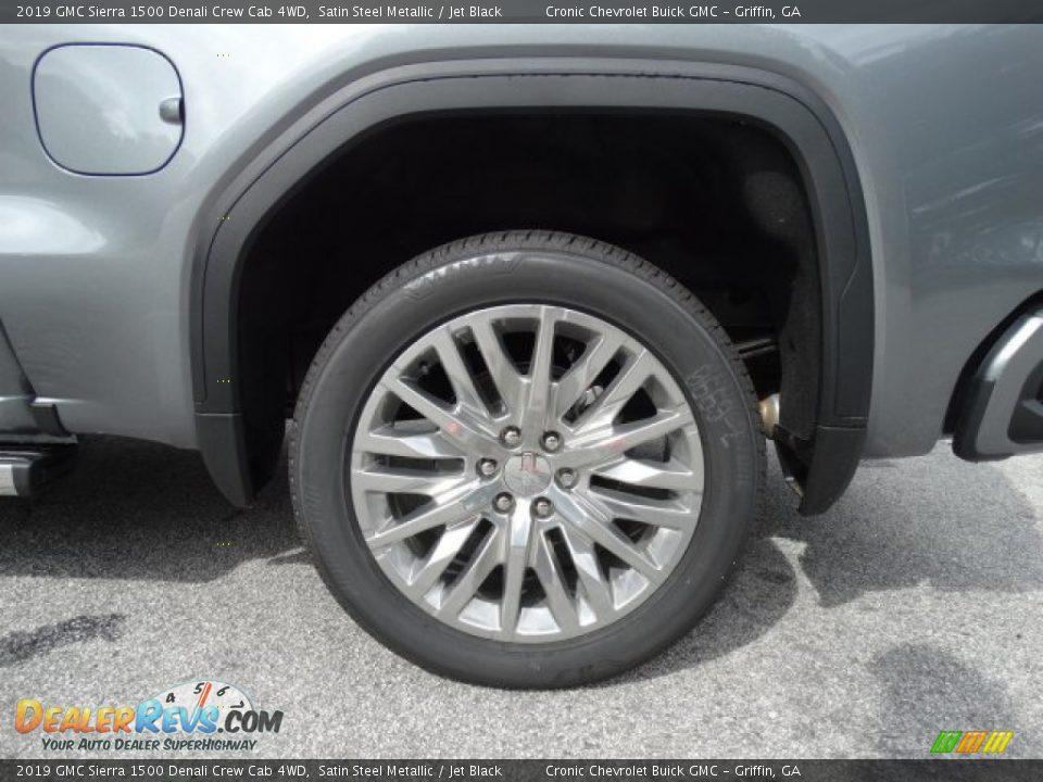 2019 GMC Sierra 1500 Denali Crew Cab 4WD Satin Steel Metallic / Jet Black Photo #10