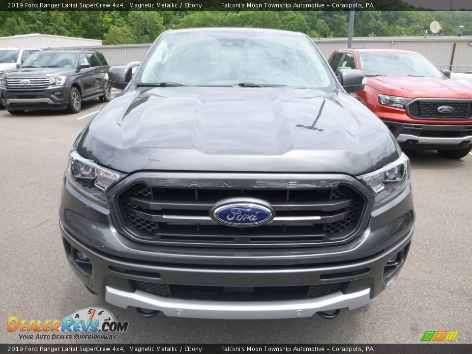 2019 Ford Ranger Lariat SuperCrew 4x4 Magnetic Metallic / Ebony Photo #4