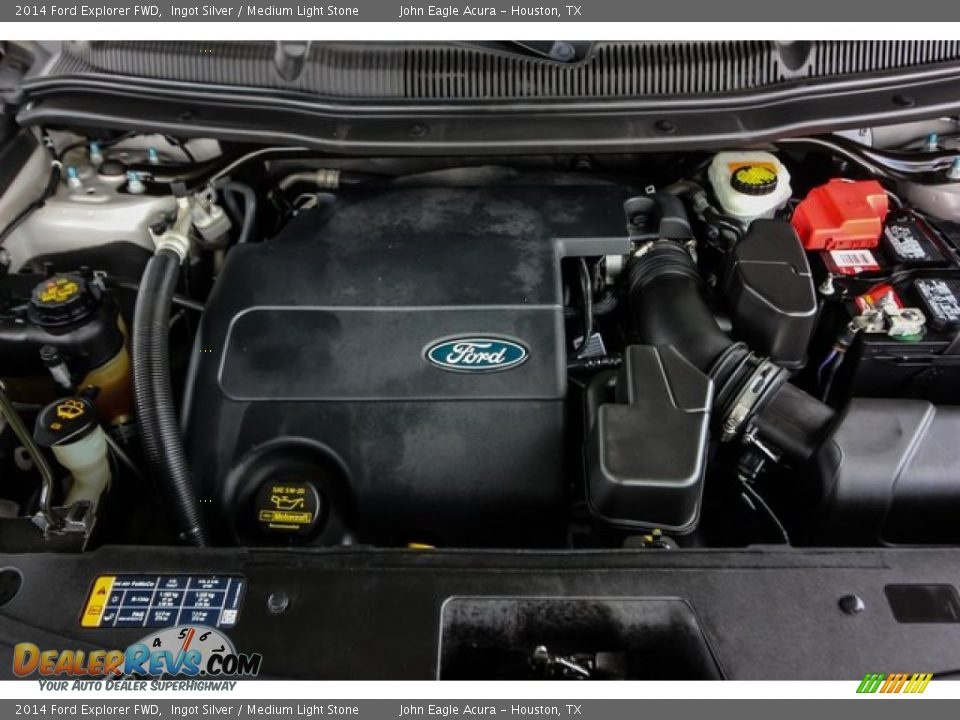 2014 Ford Explorer FWD Ingot Silver / Medium Light Stone Photo #27