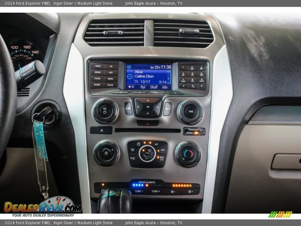 2014 Ford Explorer FWD Ingot Silver / Medium Light Stone Photo #29