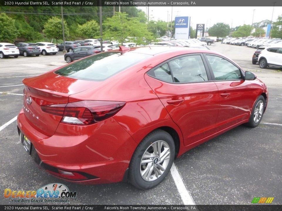 2020 Hyundai Elantra SEL Scarlet Red Pearl / Gray Photo #2