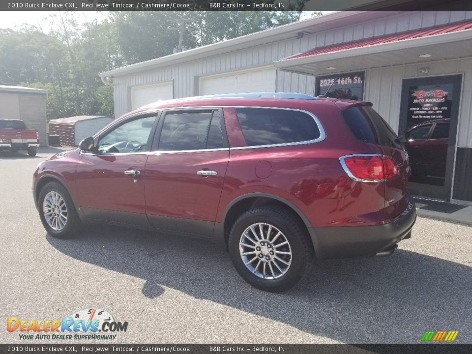 2010 Buick Enclave CXL Red Jewel Tintcoat / Cashmere/Cocoa Photo #3