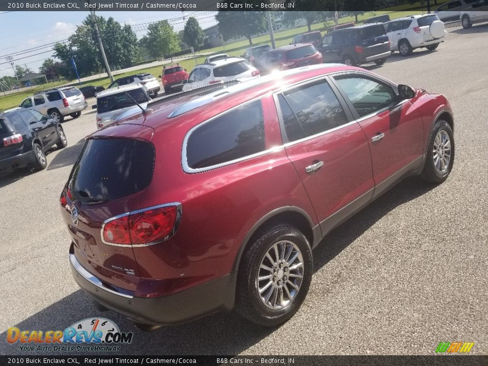 2010 Buick Enclave CXL Red Jewel Tintcoat / Cashmere/Cocoa Photo #28