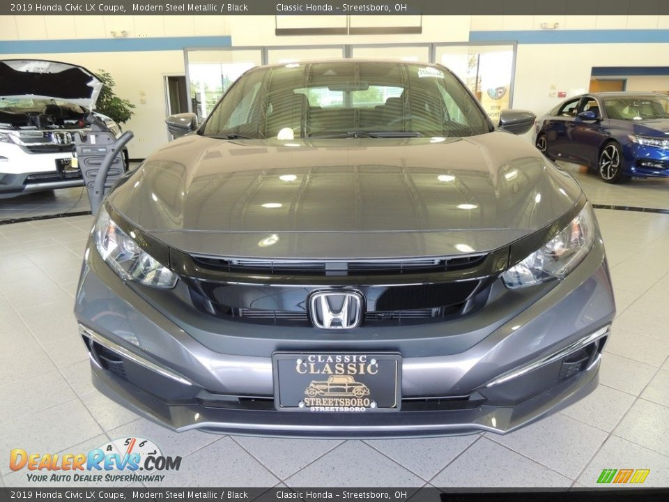 2019 Honda Civic LX Coupe Modern Steel Metallic / Black Photo #2