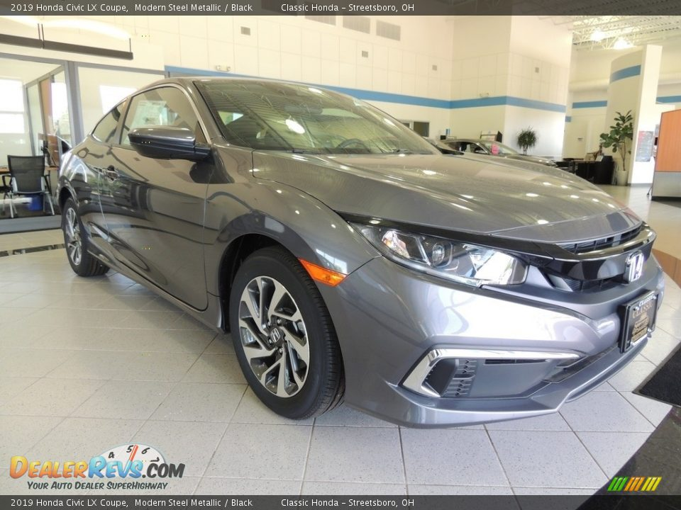 2019 Honda Civic LX Coupe Modern Steel Metallic / Black Photo #3