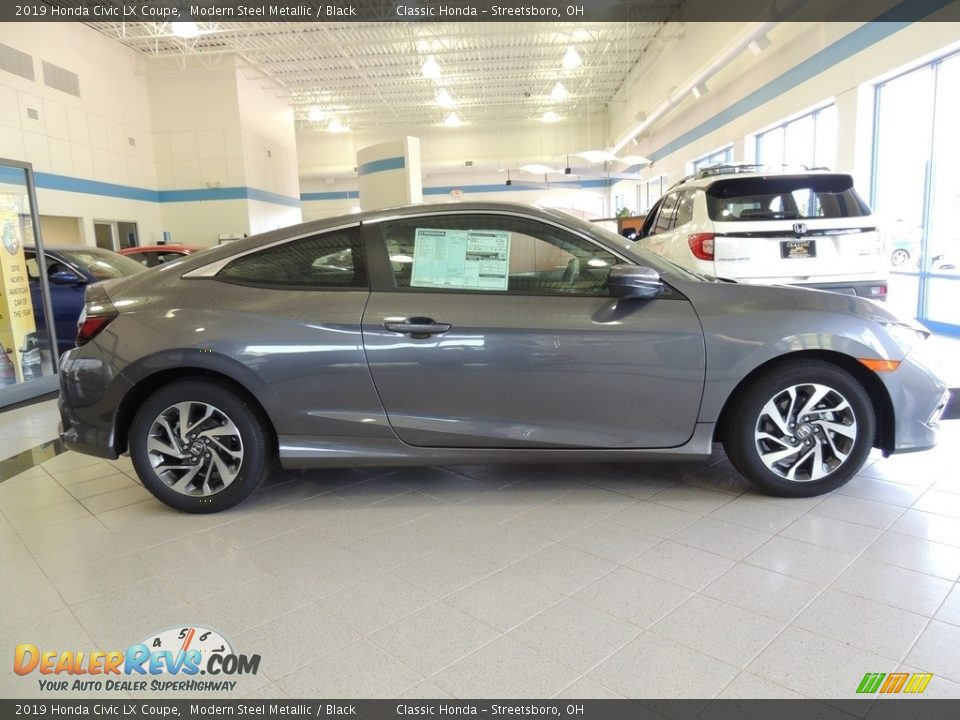 2019 Honda Civic LX Coupe Modern Steel Metallic / Black Photo #4