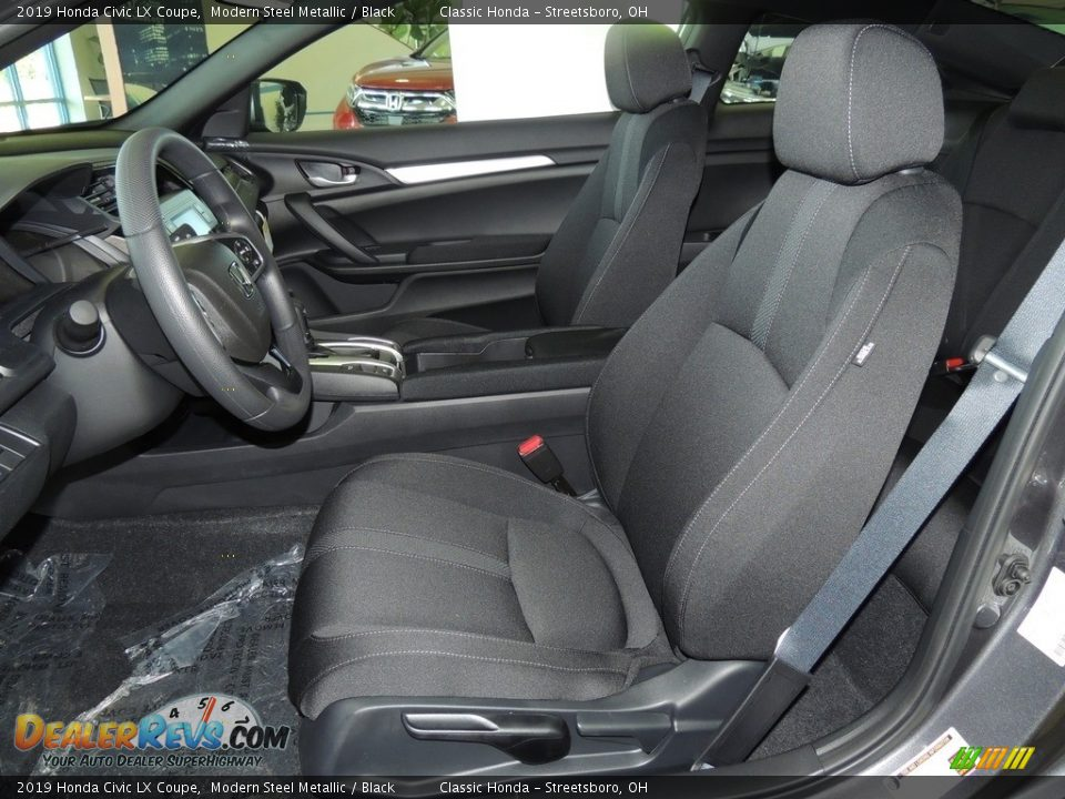 2019 Honda Civic LX Coupe Modern Steel Metallic / Black Photo #11