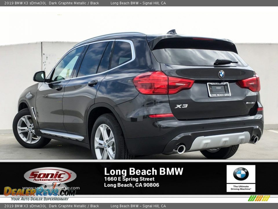 2019 BMW X3 sDrive30i Dark Graphite Metallic / Black Photo #2