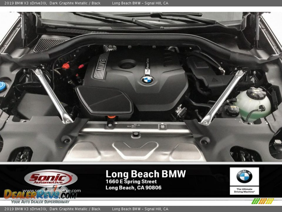 2019 BMW X3 sDrive30i Dark Graphite Metallic / Black Photo #8