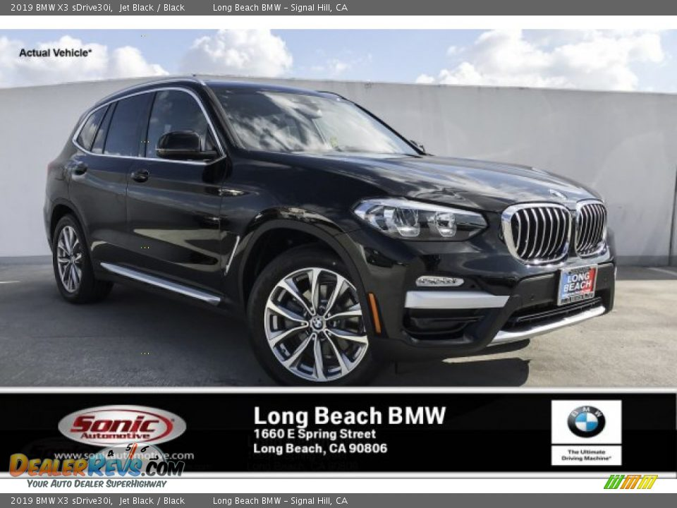 2019 BMW X3 sDrive30i Jet Black / Black Photo #1