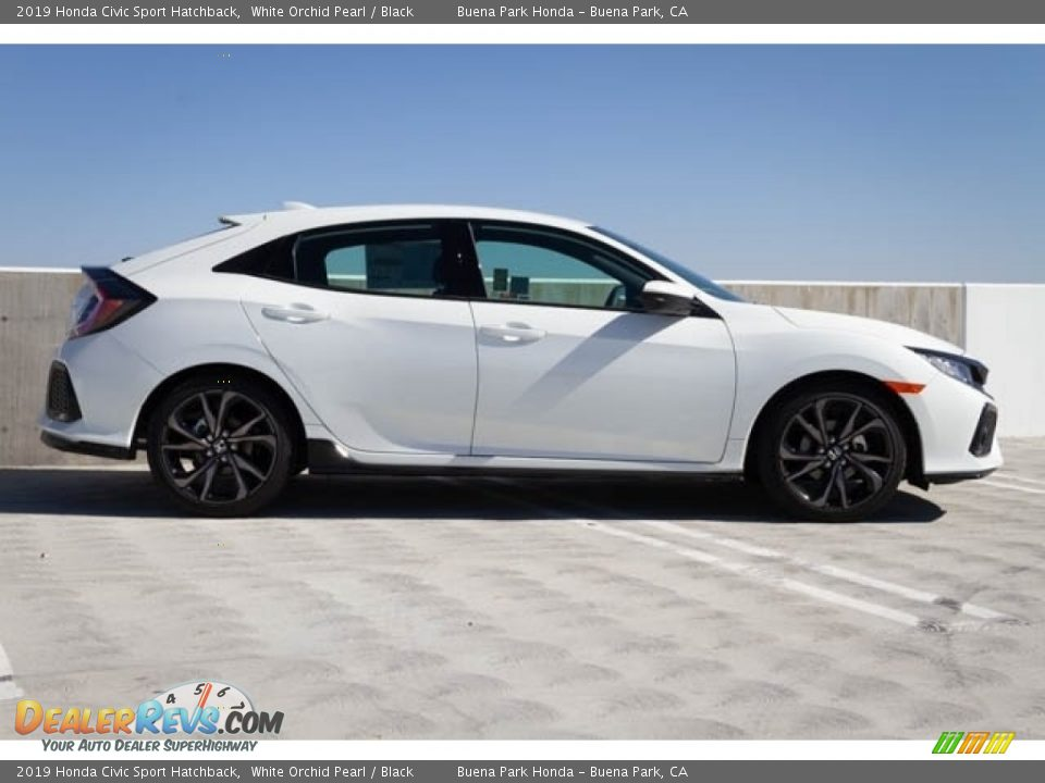 2019 Honda Civic Sport Hatchback White Orchid Pearl / Black Photo #10
