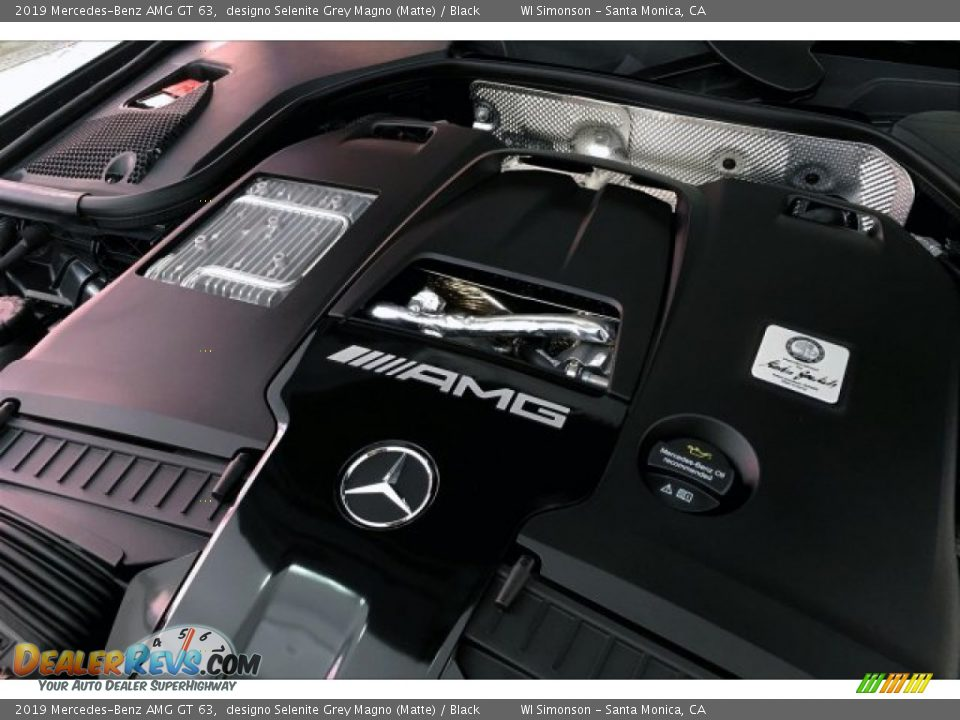 2019 Mercedes-Benz AMG GT 63 designo Selenite Grey Magno (Matte) / Black Photo #31