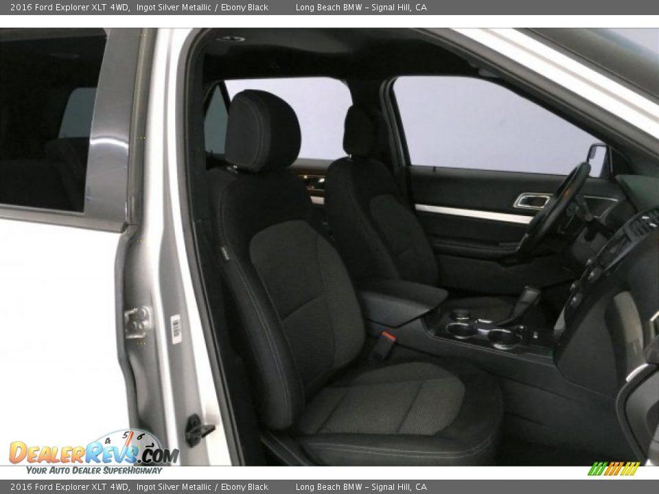2016 Ford Explorer XLT 4WD Ingot Silver Metallic / Ebony Black Photo #6
