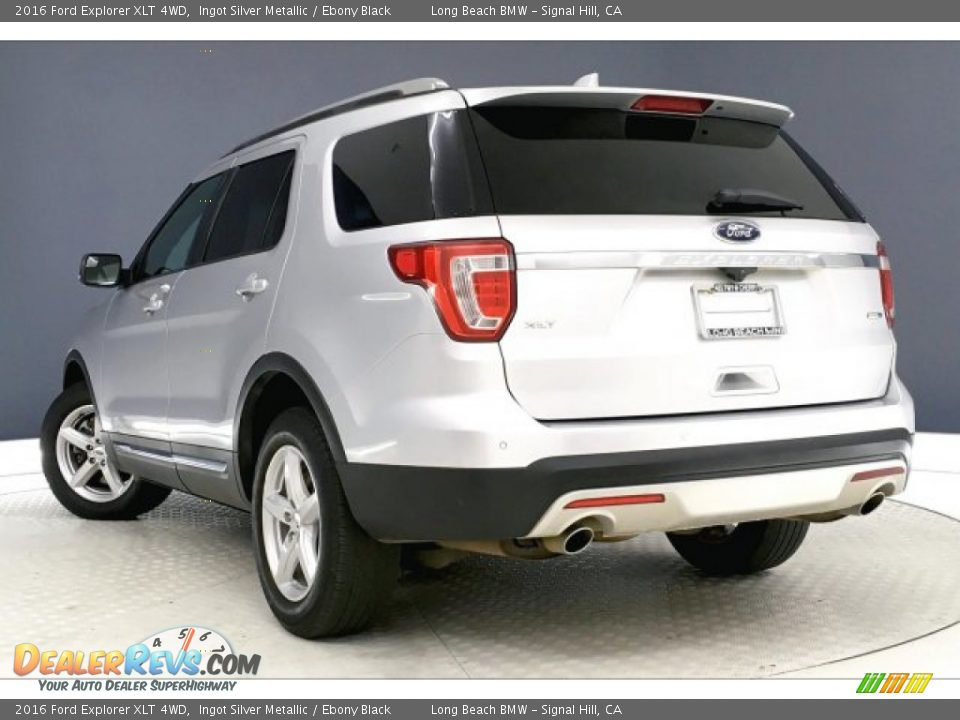 2016 Ford Explorer XLT 4WD Ingot Silver Metallic / Ebony Black Photo #10