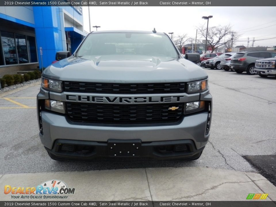 2019 Chevrolet Silverado 1500 Custom Crew Cab 4WD Satin Steel Metallic / Jet Black Photo #2