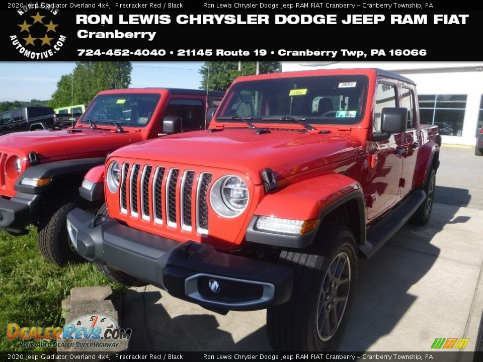 2020 Jeep Gladiator Overland 4x4 Firecracker Red / Black Photo #1