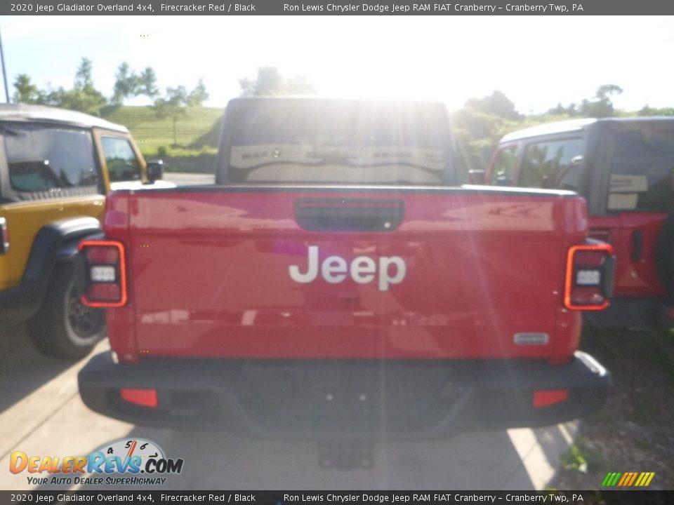 2020 Jeep Gladiator Overland 4x4 Firecracker Red / Black Photo #4