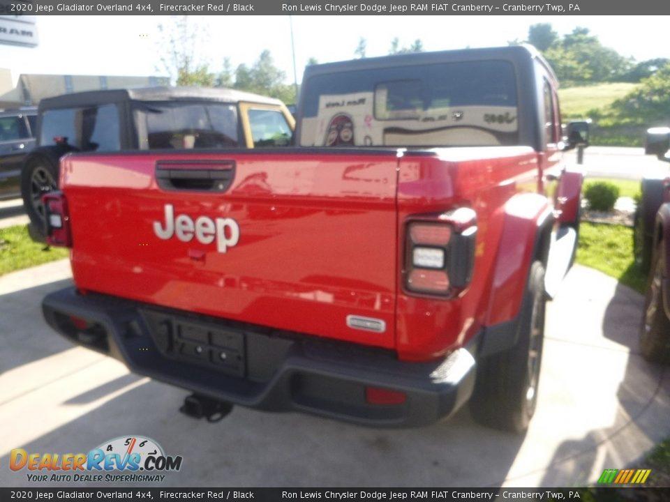 2020 Jeep Gladiator Overland 4x4 Firecracker Red / Black Photo #5