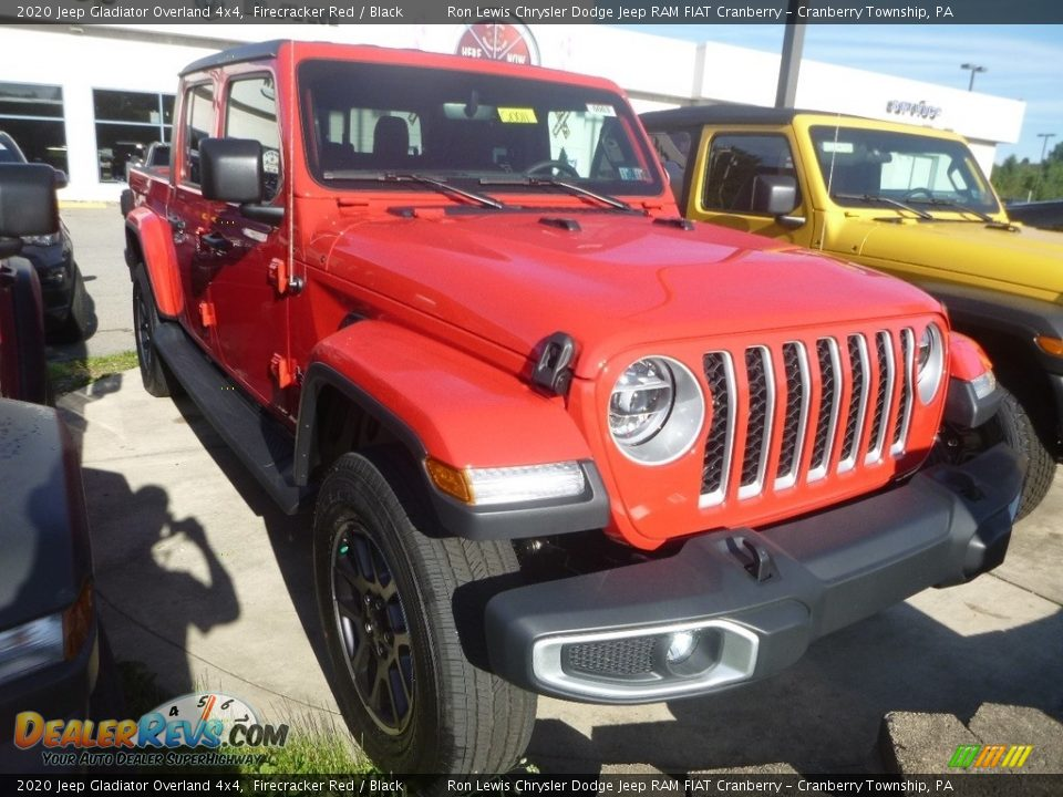 2020 Jeep Gladiator Overland 4x4 Firecracker Red / Black Photo #6