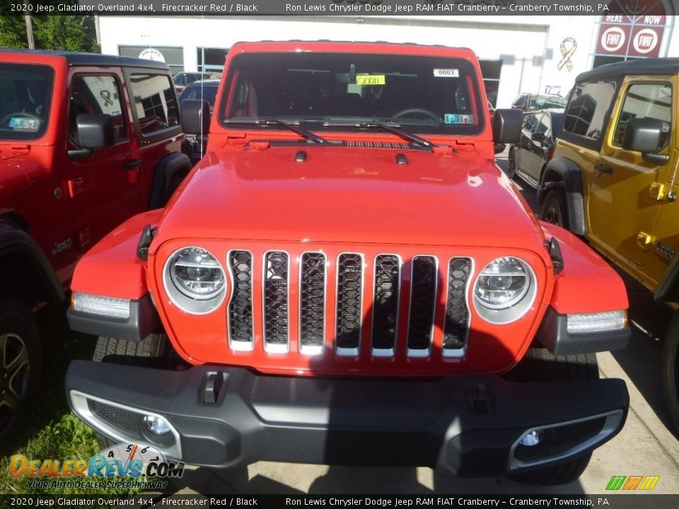 2020 Jeep Gladiator Overland 4x4 Firecracker Red / Black Photo #7