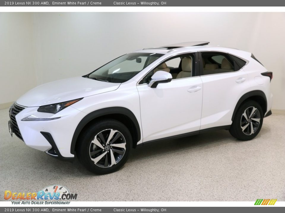 2019 Lexus NX 300 AWD Eminent White Pearl / Creme Photo #3