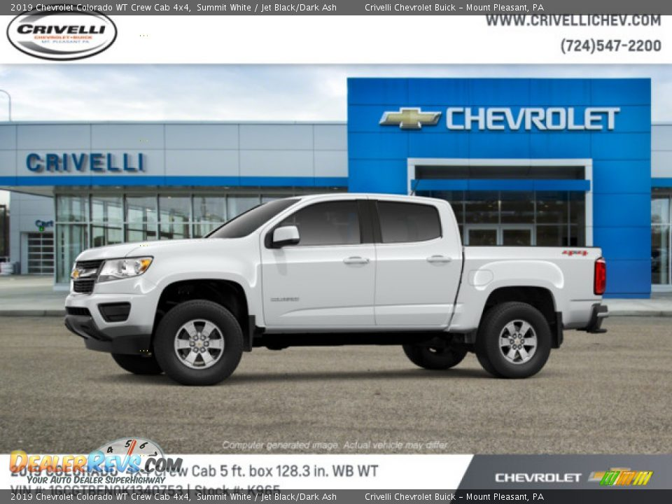 2019 Chevrolet Colorado WT Crew Cab 4x4 Summit White / Jet Black/Dark Ash Photo #2