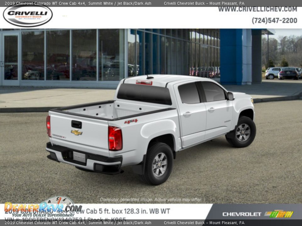 2019 Chevrolet Colorado WT Crew Cab 4x4 Summit White / Jet Black/Dark Ash Photo #4