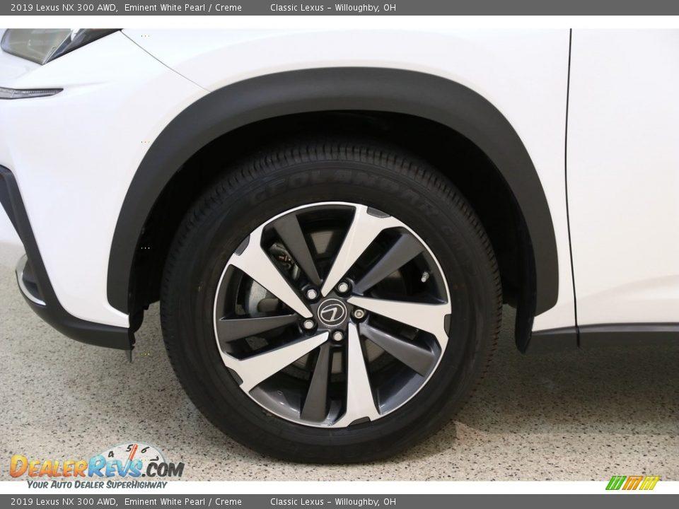 2019 Lexus NX 300 AWD Eminent White Pearl / Creme Photo #23