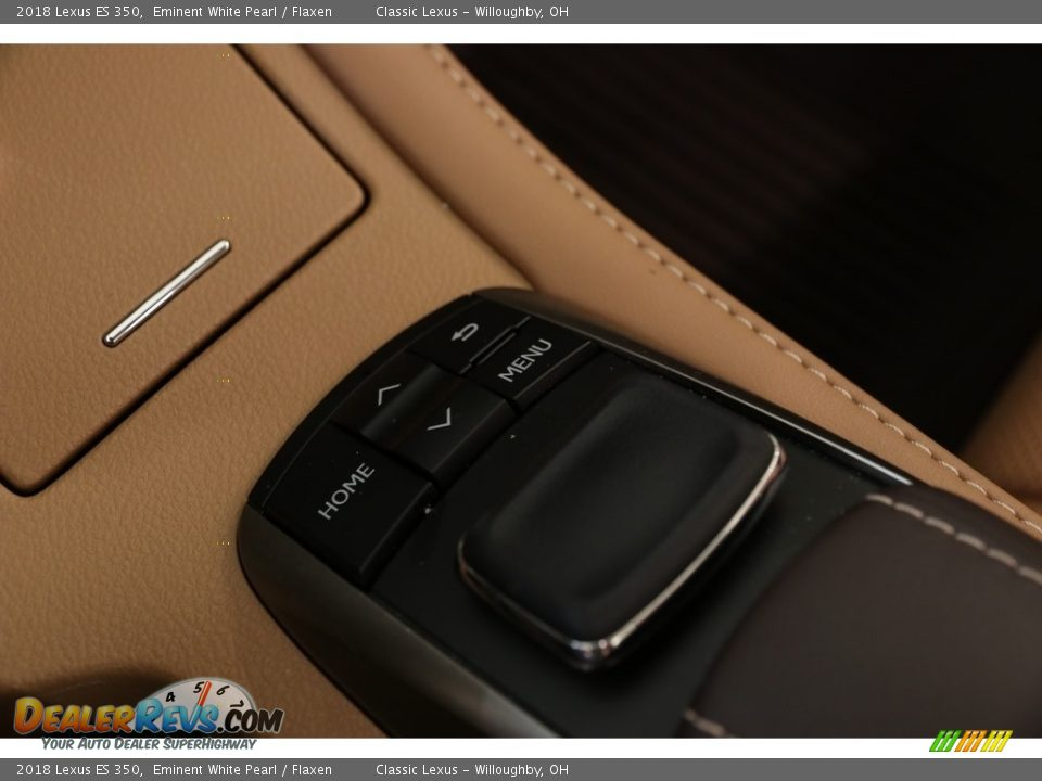 2018 Lexus ES 350 Eminent White Pearl / Flaxen Photo #23