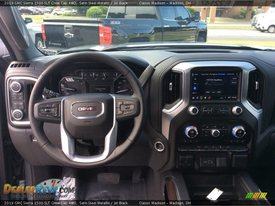 2019 GMC Sierra 1500 SLT Crew Cab 4WD Satin Steel Metallic / Jet Black Photo #15