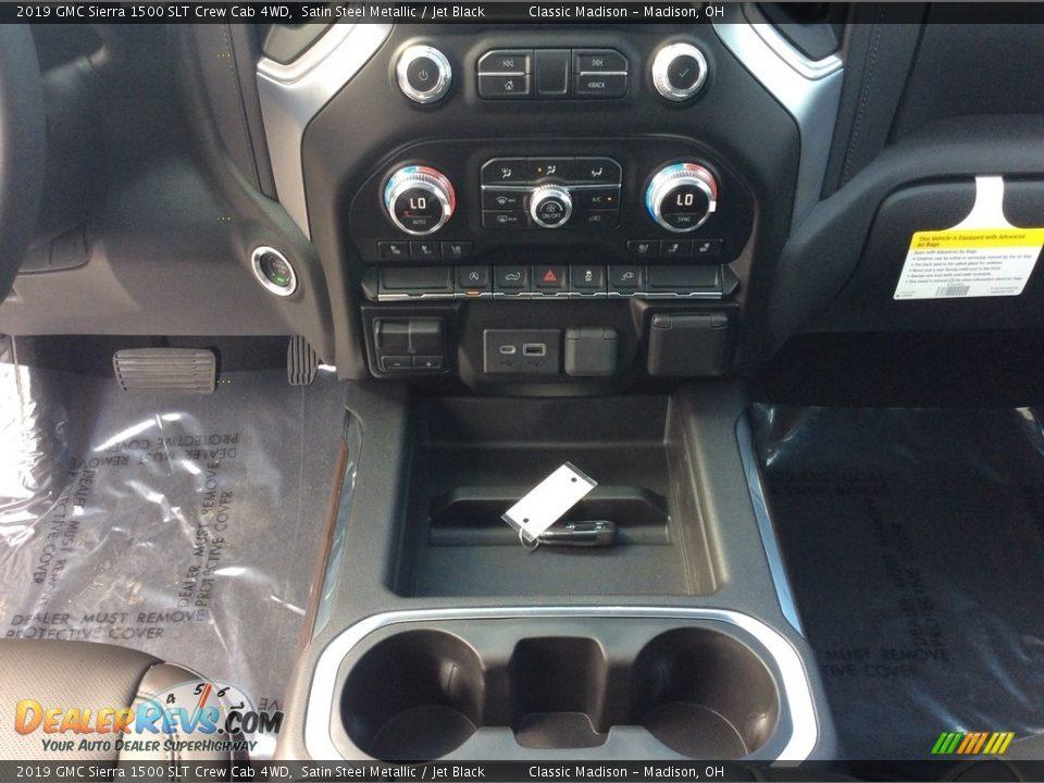 2019 GMC Sierra 1500 SLT Crew Cab 4WD Satin Steel Metallic / Jet Black Photo #16