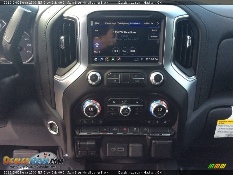 2019 GMC Sierra 1500 SLT Crew Cab 4WD Satin Steel Metallic / Jet Black Photo #17