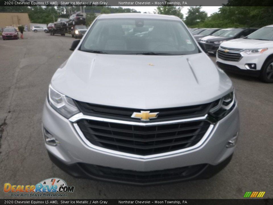 2020 Chevrolet Equinox LS AWD Silver Ice Metallic / Ash Gray Photo #8