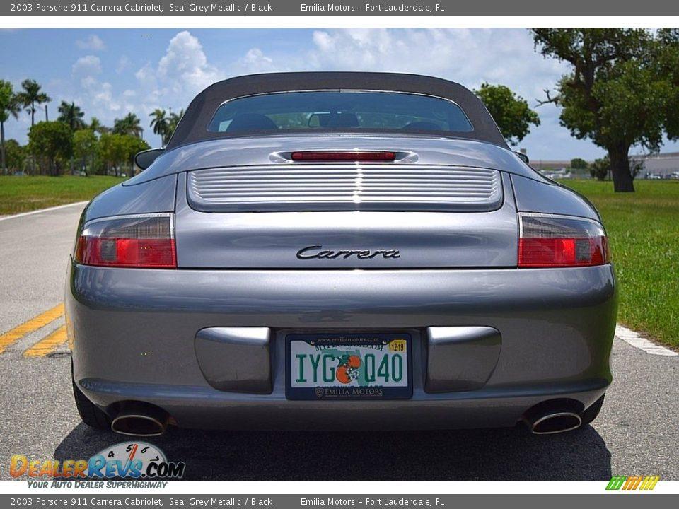 2003 Porsche 911 Carrera Cabriolet Seal Grey Metallic / Black Photo #10