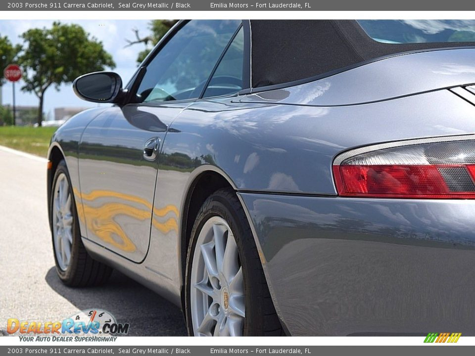 2003 Porsche 911 Carrera Cabriolet Seal Grey Metallic / Black Photo #13