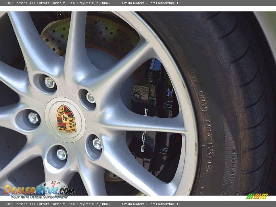 2003 Porsche 911 Carrera Cabriolet Seal Grey Metallic / Black Photo #24