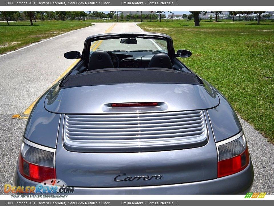 2003 Porsche 911 Carrera Cabriolet Seal Grey Metallic / Black Photo #30