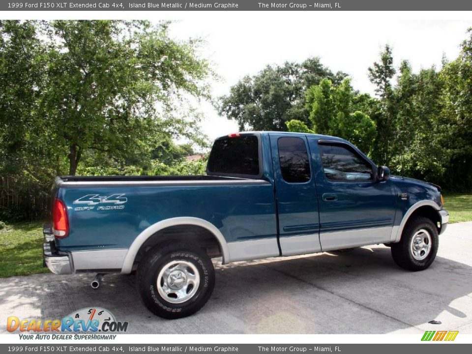 1999 ford f150 xlt extended cab 4x4 island blue metallic medium graphite photo 13. Black Bedroom Furniture Sets. Home Design Ideas