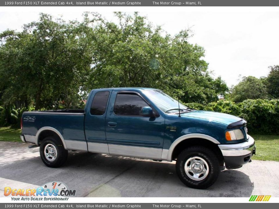 1999 ford f150 xlt extended cab 4x4 island blue metallic medium graphite photo 16. Black Bedroom Furniture Sets. Home Design Ideas