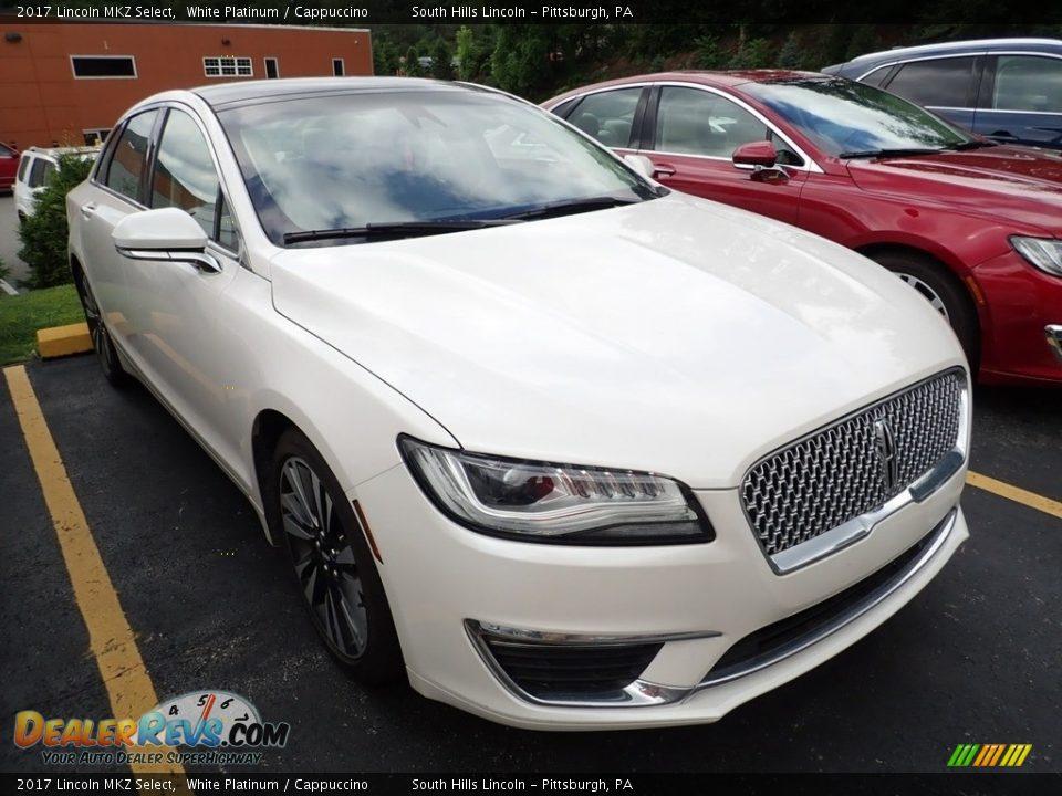 2017 Lincoln MKZ Select White Platinum / Cappuccino Photo #5