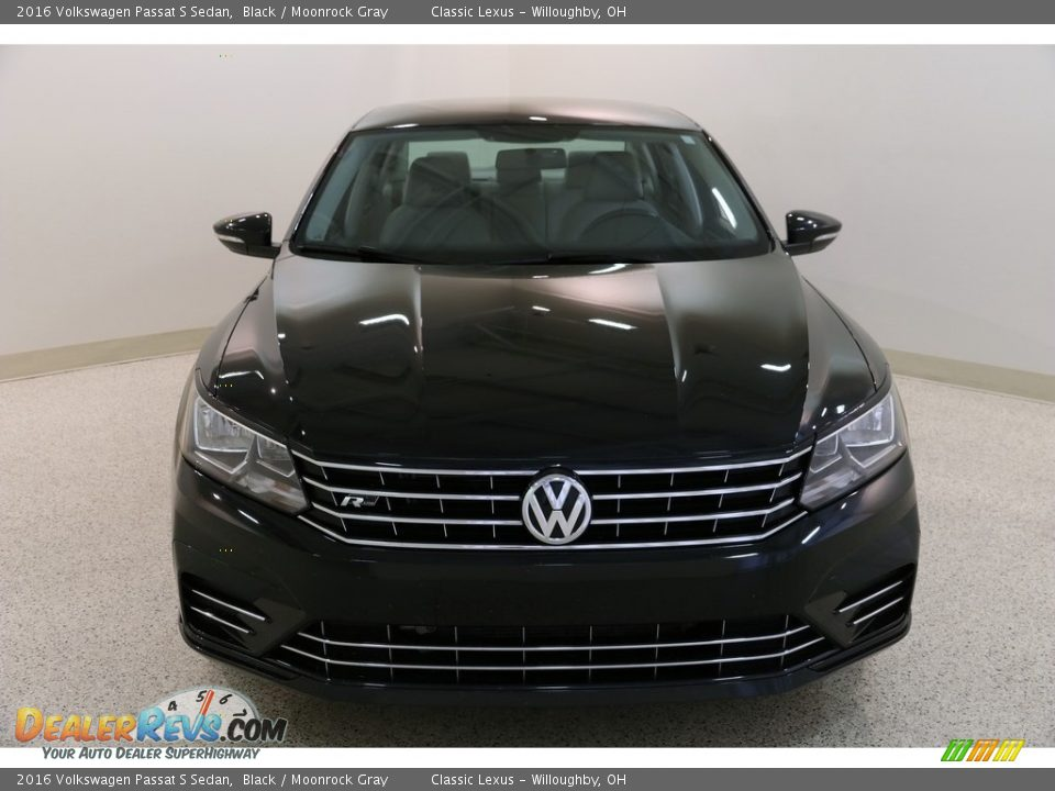 2016 Volkswagen Passat S Sedan Black / Moonrock Gray Photo #2