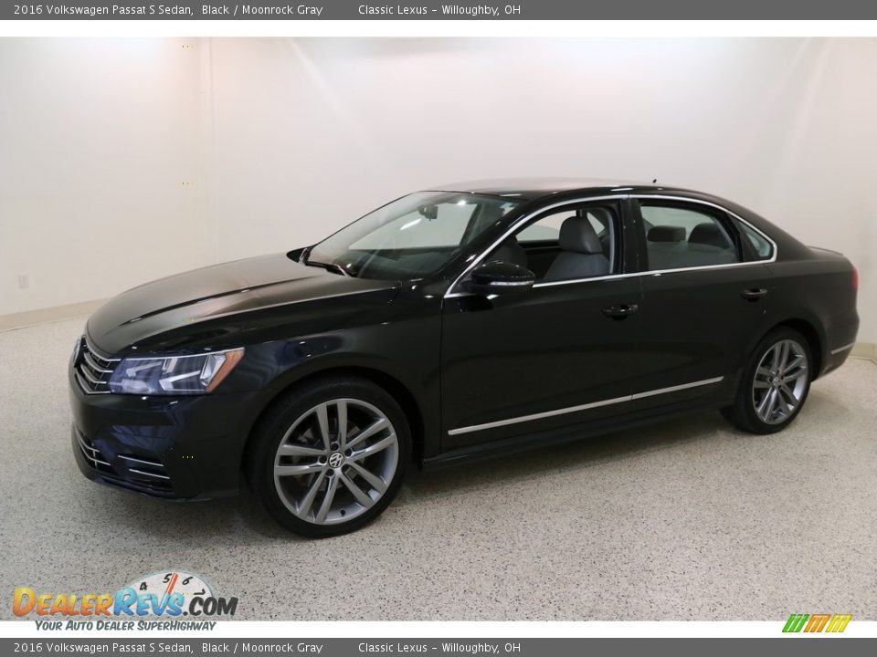 2016 Volkswagen Passat S Sedan Black / Moonrock Gray Photo #3