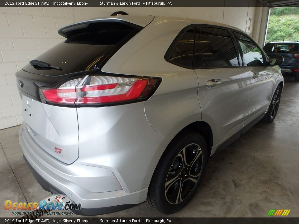 2019 Ford Edge ST AWD Ingot Silver / Ebony Photo #2