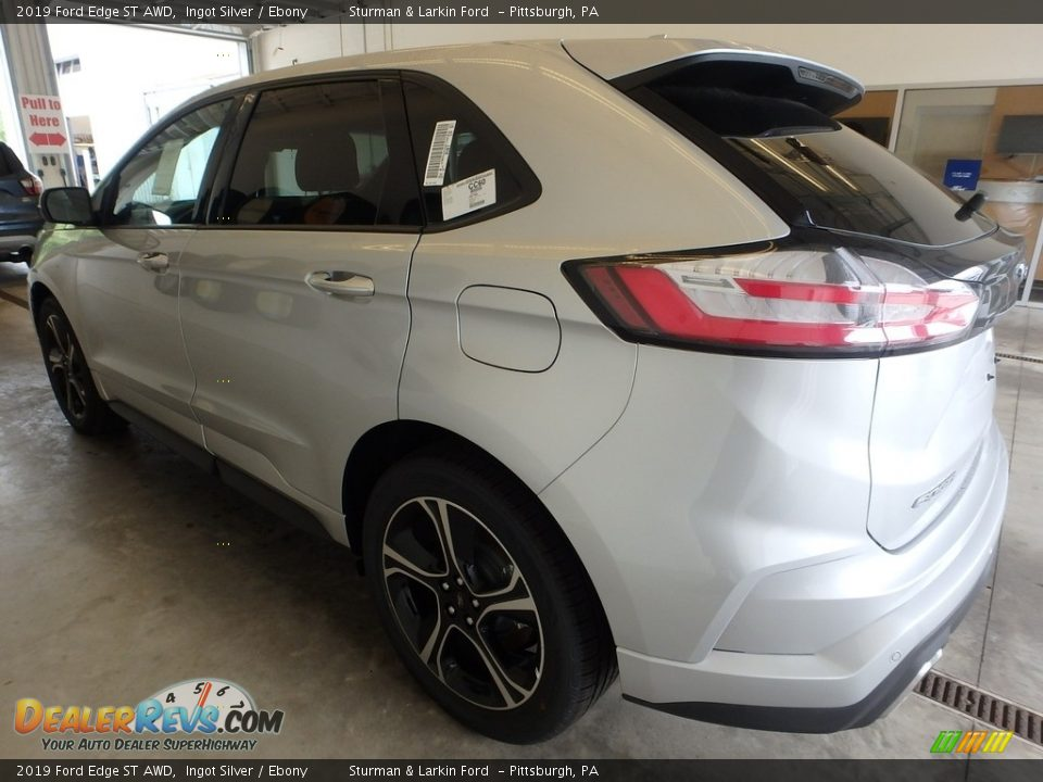 2019 Ford Edge ST AWD Ingot Silver / Ebony Photo #4