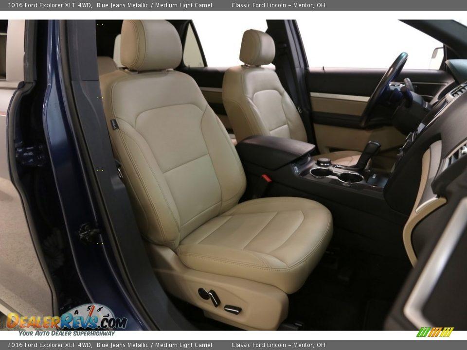 2016 Ford Explorer XLT 4WD Blue Jeans Metallic / Medium Light Camel Photo #17