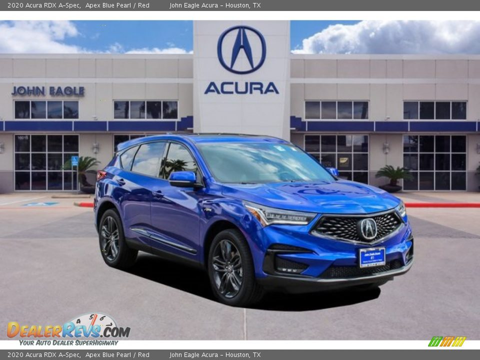 2020 Acura RDX A-Spec Apex Blue Pearl / Red Photo #1