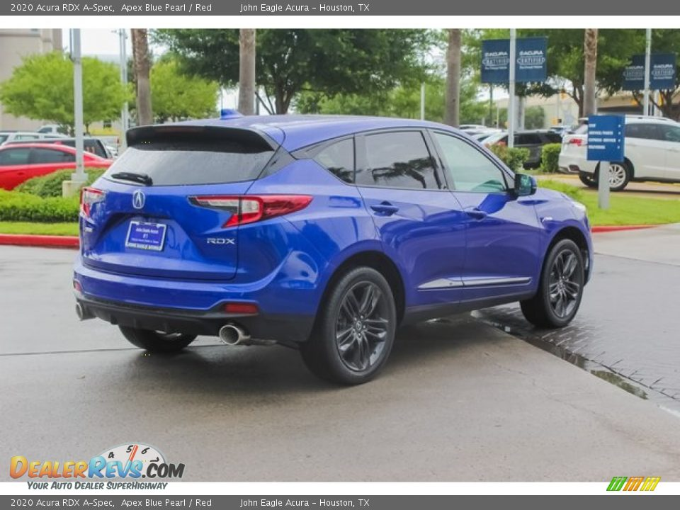 2020 Acura RDX A-Spec Apex Blue Pearl / Red Photo #7