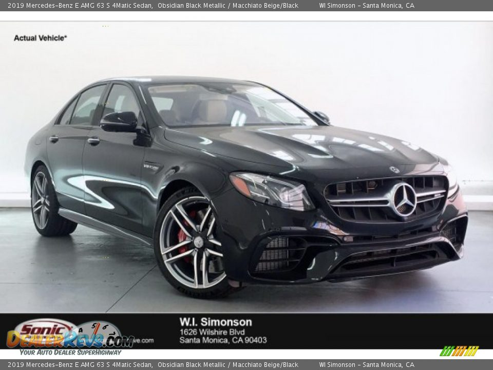 2019 Mercedes-Benz E AMG 63 S 4Matic Sedan Obsidian Black Metallic / Macchiato Beige/Black Photo #1